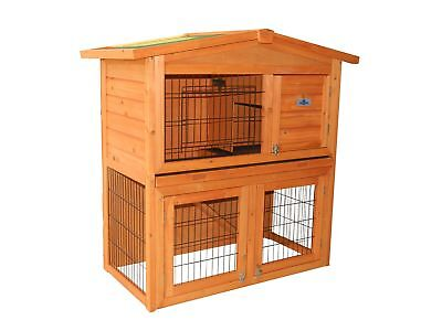 Used, Confidence Pet 40� Wooden Rabbit Hutch Bunny Guinea Pig Cage Pen Chicken Coop for sale  Henderson