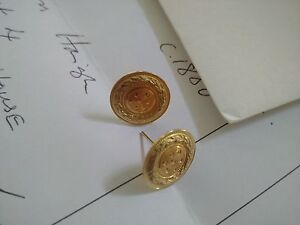 Antique - 18ct Gold Disc Design Earrings. c.1880 Hope Island Gold Coast North Preview