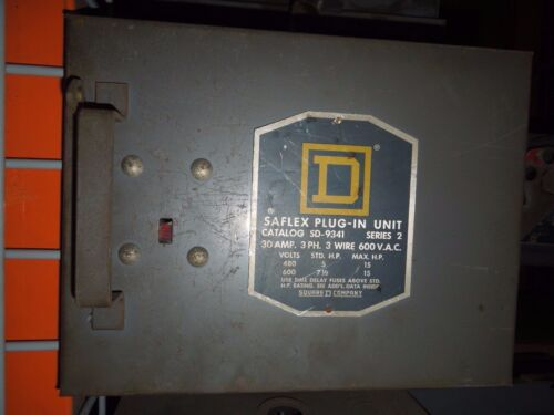 Square D Sd9341 Round Bar Fusible Busplug 30a 3ph 3w 600v Cover Operated