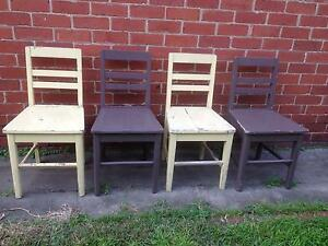 Timber retro chairs x 4 Brunswick East Moreland Area Preview