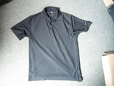 421e602c2761 Nike Golf Fit Dry Large Mens Black Golf Shirt