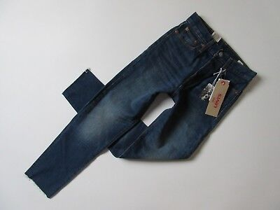 NWT Levi's Wedgie in Classic Tint White Oak High Rise Raw Hem Stretch Jeans 24 Button Fly Tinted Jeans