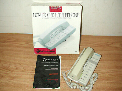 Vintage 1992 Bellsouth Supremacy 850v 14 Memory Homeoffice Telephone With Box