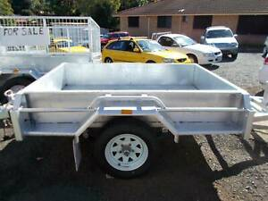 6x4 trailer with cage ,spare wheel and blue slip Clunes Lismore Area Preview