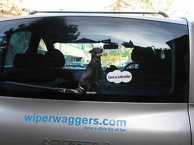 BLACK LABRADOR DOG LOVER NOVELTY GIFT COLLECTABLE FOR YOUR CAR REAR WINDSCREEN  for sale  Shipping to Canada
