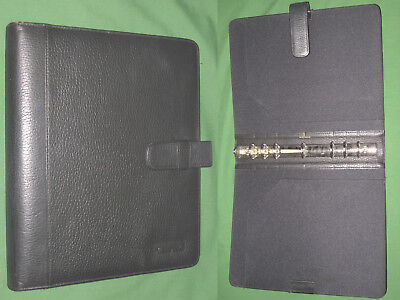Folio 1.0 Black Leather Day Timer Planner 8.5x11 Monarch Franklin Covey 8178