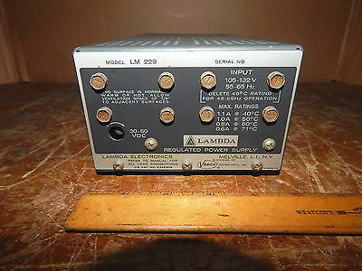Lambda Electronics Lm 229 Dc Power Supply 30-60 Volts Testedworking