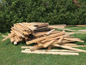Lot of lumber about 100 2x6 and 25 sheets of 3/4 ply