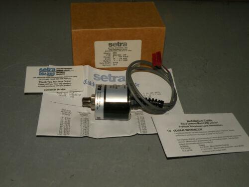 SETRA 206100-SP OPTION 901 12-28VDC 0-10 PSI  PRESSURE TRANSMITTER GAUGE SENSOR