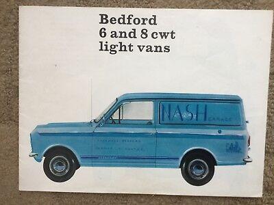 Bedford Light Vans Catalogue Sales Brochure from 1966 (Bedford 6 & 8cwt Vans)