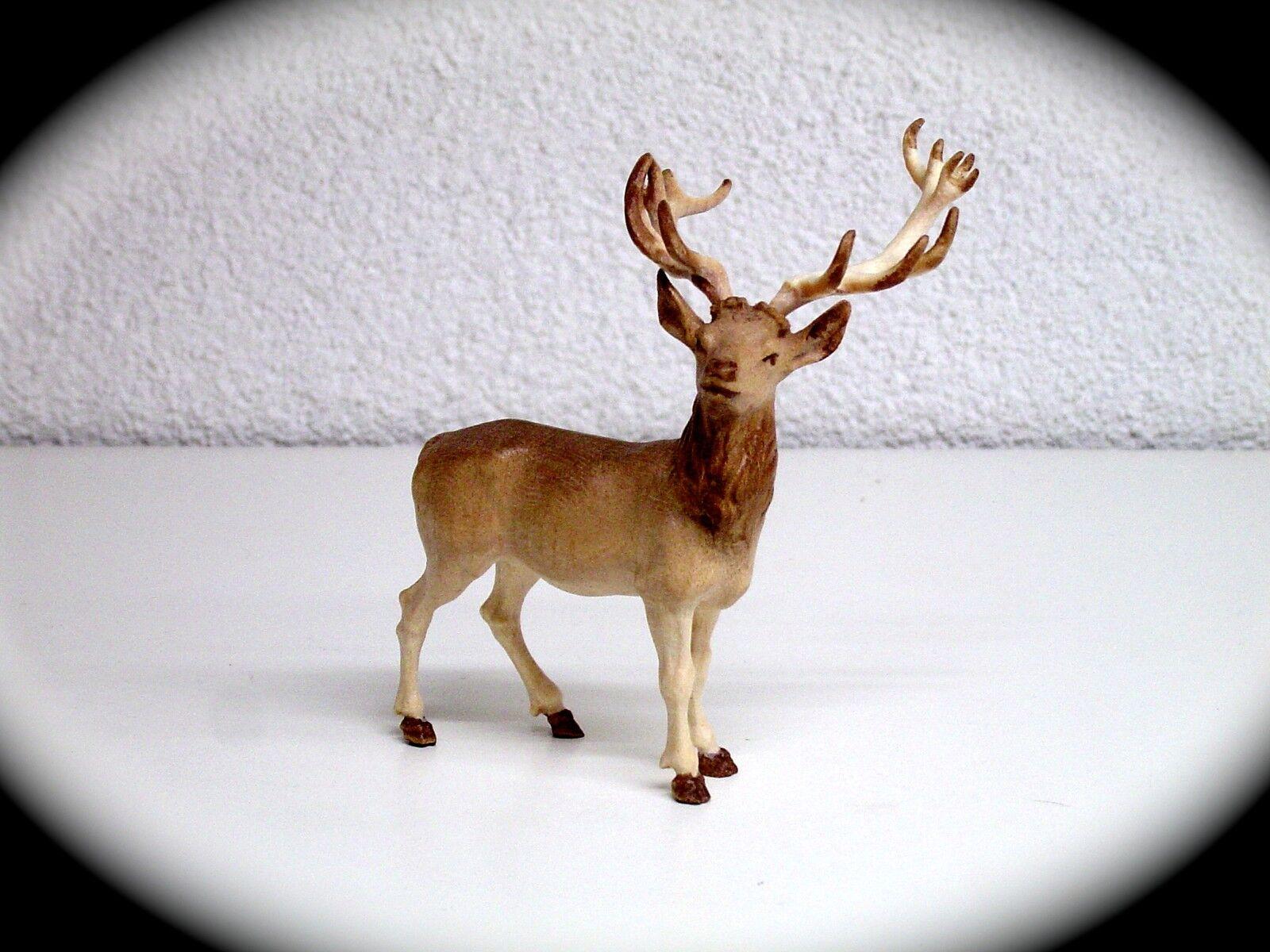 Geschnitzte Tier Figur Hirsch 10 Cm Antik Sammler Figur