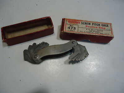 Starrett Screw Pitch Gage 473 Vintage Tool Wbox Metal Working Machinist
