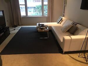 IKEA woven navy blue rug Darling Point Eastern Suburbs Preview