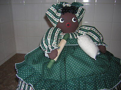 ~TOASTER COVER DOLL~~2 slice toaster~~Black Americana Mammy~~