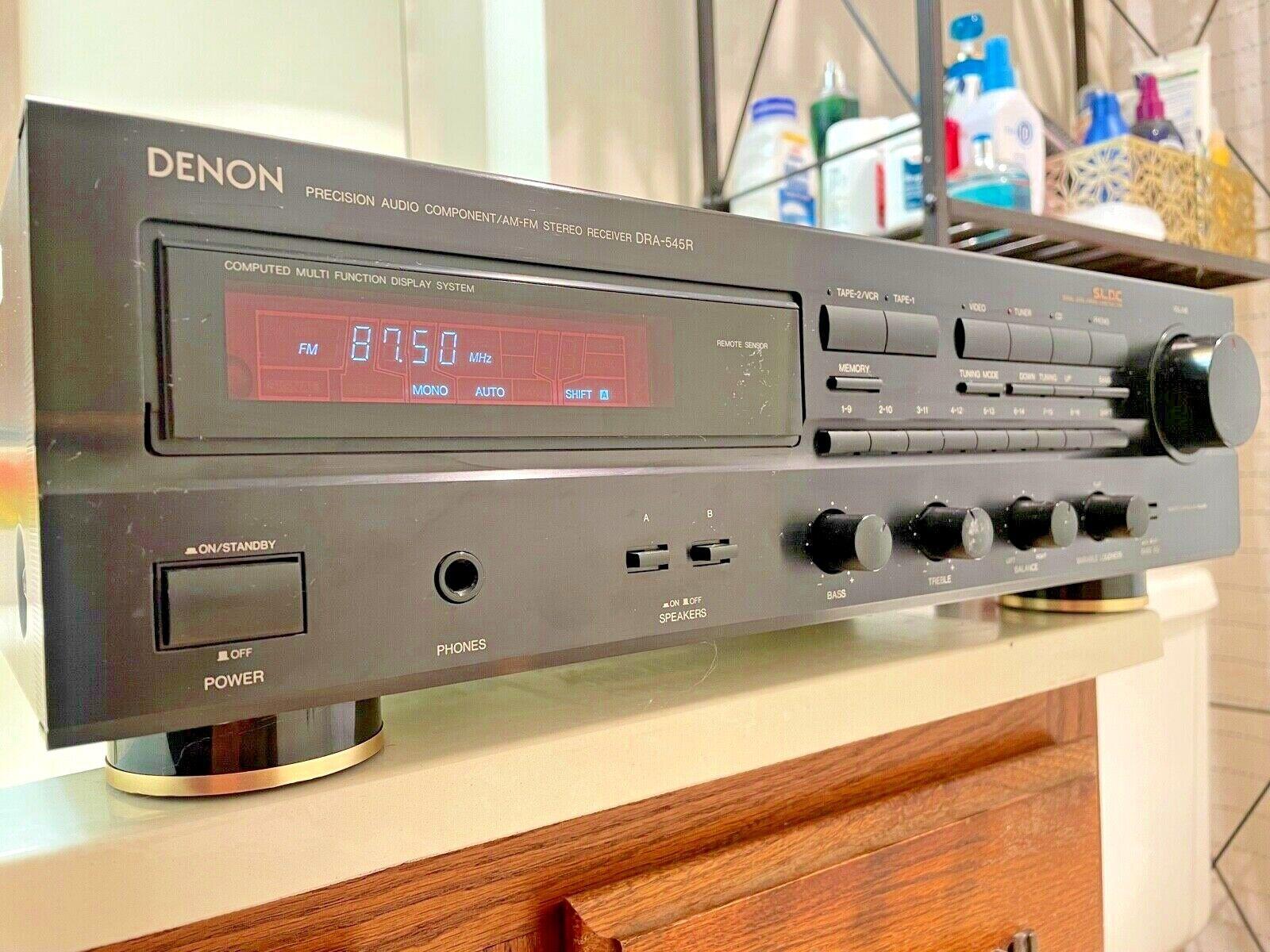 Vintage Denon DRA-545R AM FM Audio Video Home Stereo Receive