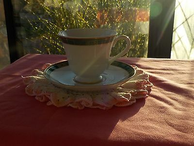 WEDGWOOD TEACUP/SAUCER/EMBASSY COLLECTION/GOLD TRIM/FAIRFIELD/FINE CHINA/TEA