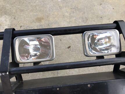 ARB bull bar with spotlights
