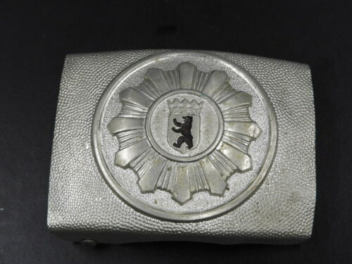 Original post WWII Berlin PO EM Belt Buckle early Silver 1950s Koppelschloß