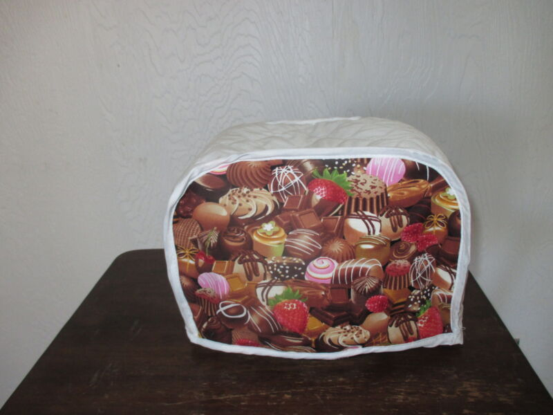 CHOCOLATES 2 SLICE TOASTER APPLIANCE COVER, NEW