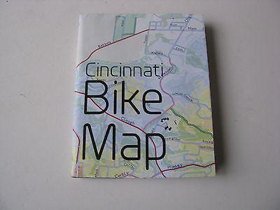 1x Cincinnati Ohio Folded Bicycle Train Road Cycling Cycle Bike Map Poster Large