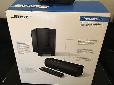 New Bose CineMate 15 Home Theater Speaker System 300 W Super Bass Subwoofer