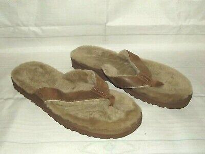 UGG AUSTRALIA Classic Sandal Chestnut Suede/Sheepskin Sandals MENS Size 11 Suede Mens Sandals