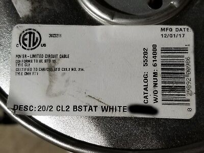 Southwire Barostat Ii 202c 20awg 2 Conductor Solid Thermostat Cable White 50ft