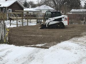 Professional skid steer (bobcat) services, parking lot sweeping
