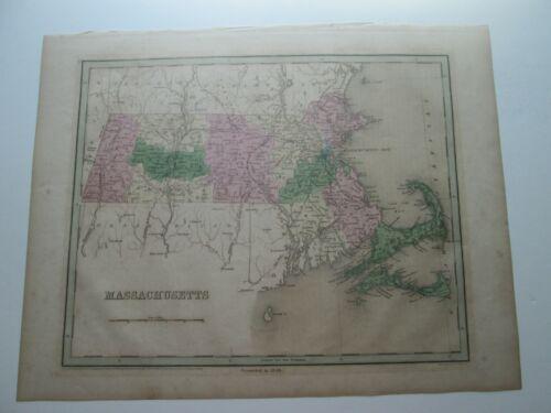 "1846/1835 BRADFORD MAP ""MASSACHUSETTS"" SINGLE ISSUE"