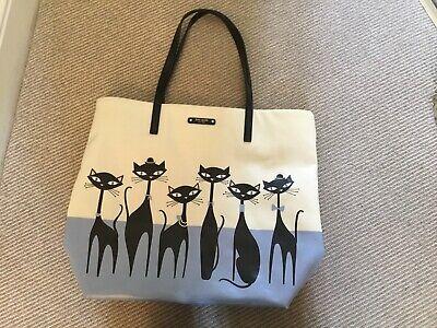 Kate Spade New York Kitten Black Cat Sophisticats Shopper Handbag. Good Used Con