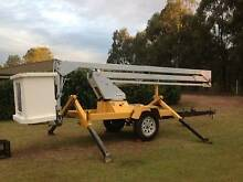 cherry picker lift trailer mounted boom lift 14 meter Jimboomba Logan Area Preview