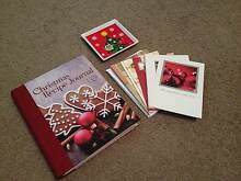 Christmas Items - Recipe Book, 18x Xmas Cards and Plate Woodville South Charles Sturt Area Preview