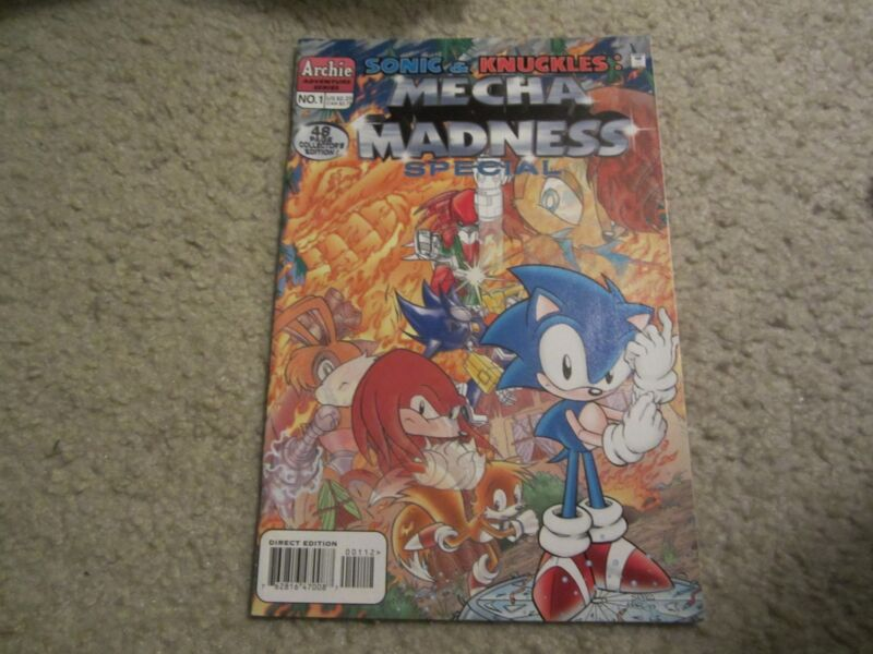 SONIC & KNUCKLES: MECHA MADNESS SPECIAL #1 2ND PRINT AWESOME COMIC!!