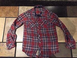 Silver Jeans Co - Boys Plaid Long Sleeved Shirt For Sale