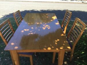 Dining Table and 4 Chairs Mount Claremont Nedlands Area Preview