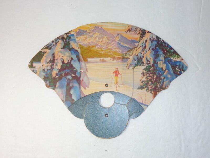 1948 Advertising Hand Fan Darke County Fair Greenville Ohio