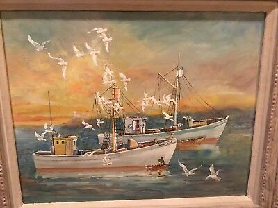 George Baer Oyster Boats framed in Plymouth Connecticut