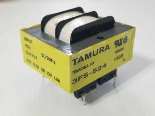 1Pc Power Transformer 115Vac IN 24Vac/.5A or 12Vac/1A OUT 12VA TAMURA 3FS-524