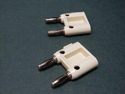 Pomona Mdp-s Dual Banana Plugs White Quantity 2 Nos