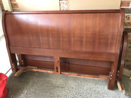 Quality Sleigh timber Queen bed with mattress