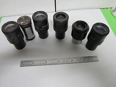 Lot 6 Ea Ao Bausch Lomb Eyepieces Microscope Part Optics As Is Binl2-09