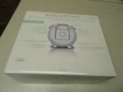 Accurian Docking Alarm Clock & Speaker System for most dockable ipods - White