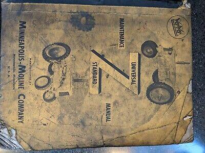 Minneapolis Moline Model Z Farm Tractor Service Manual Original Used No Reprint