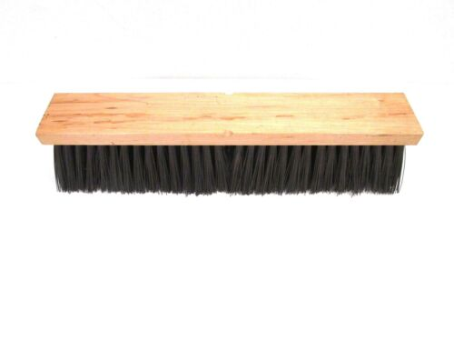 "NOS! MAGNOLIA 16"" FLOOR BRUSH BROWN POLY 3"" BRISTLES"