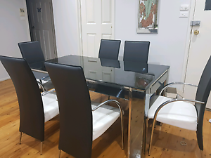 tv unite, coffee table and table with 6 chairs Rosemeadow Campbelltown Area Preview