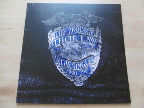The Prodigy Autogramm signed LP-Cover Their Law:The Singles 1990-2005 Vinyl ACOA