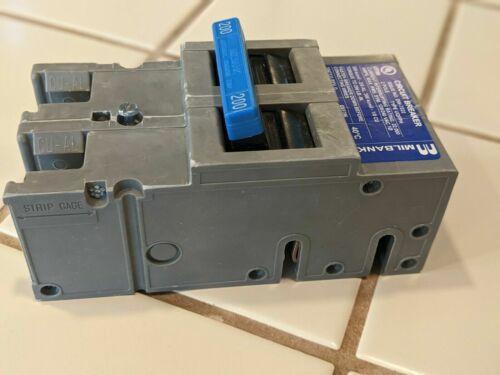 MILBANK UQFH 2 POLE 200 AMP 22K MAIN CIRCUIT BREAKER TYPE UQFHP