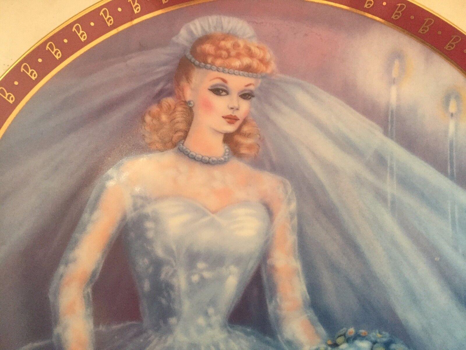 1959 Barbie Bride To Be Susie Morton High Fashion Collector Plate Danbury Mint - $2.81