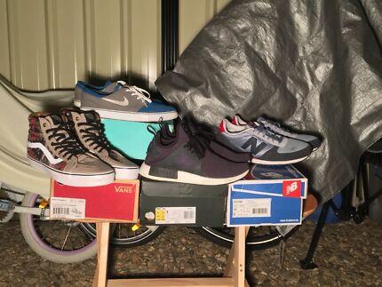 Adidas NMD, Nike Janoski, Vans Sk8-Hi & NewBalance 430