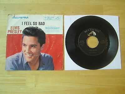 Elvis 45rpm record & Picture Sleeve, I Feel So Bad/Wild In The Country, RCA 1961